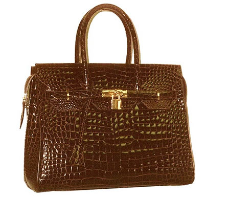 Alligator leather handbag for her