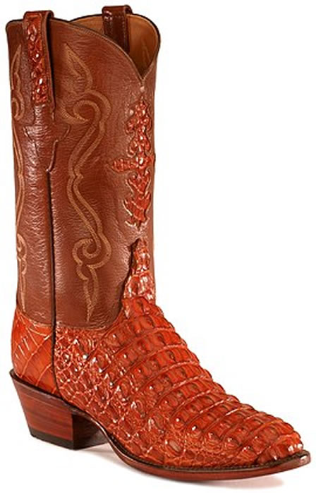 Crocodile leather cowboy boot