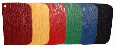 Color samples of shark leather
