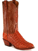 Crocodile leather boots