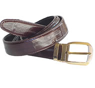 Eel leather belt