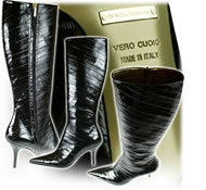 Eel leather boots by Dolce and Gabana