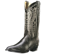 lizard leather boot